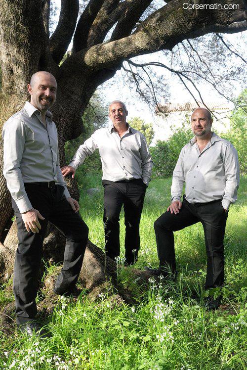 Don-Mathieu Santini, Jean-Charles Papi et Jacques Culioli du trio Arapa ARAPA