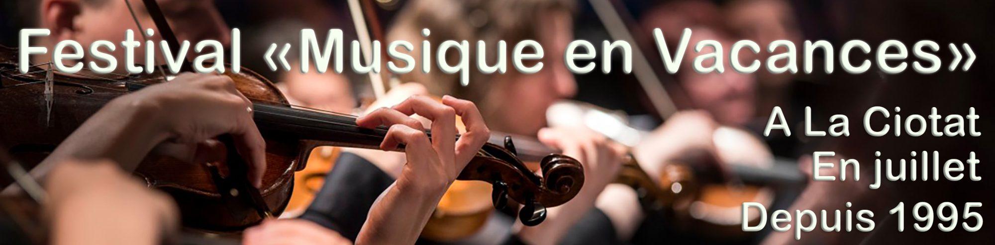 """Festival """"Musique en Vacances"""""""